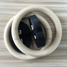 Großhandel 236 * 28mm Buche Crossfit Holz Gym Ring