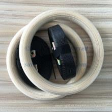 Anillo de madera del gimnasio de Crossfit de la haya de la venta al por mayor 236 * 28m m