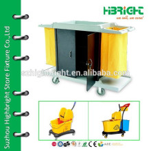 housekeeping cleaning service cart