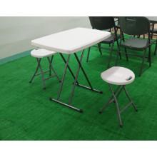 Portable Plastic Adjustable Height Folding Table, Plastic Table