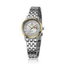 Cheap Stainless Steel Week and Date Display Couple Montre bracelet