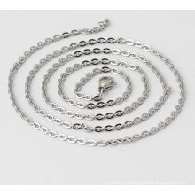 Fashion Ladies Silver Jewelry Stainless Steel Jewelry Cross Chain O-chain Necklace With Pendant 1.5/2/2.5/3.2mm