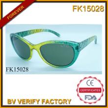 Sonnenbrille mit Bohr- und edlen grünen Rahmen (FK15028)