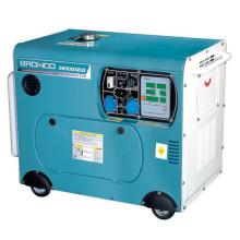 Gerador diesel refrigerado a ar silencioso da fase monofásica