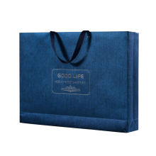 Top quality custom logo kraft craft paper wedding gifts shopping bags with cotton handles