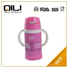 Lebensmittel Sicherheit Kinder Edelstahl Isolierflasche mit Stroh