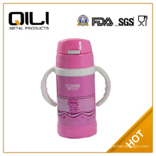 Food safety Children stainless steel vacuum flask with straw