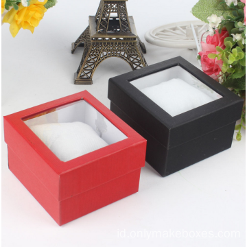 Batal Plastik Window Packaging Karton Tampilan Watch Box