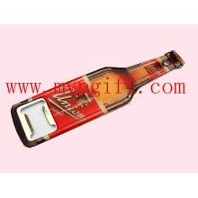 Abridor de botellas de metal con la impresión del logotipo del cliente (m-BO02)