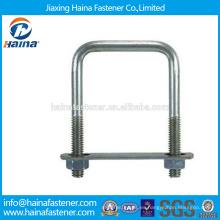 En existencia Proveedor Chino Mejor Precio DIN3570 Acero al carbono / Acero inoxidable cuadrado u pernos