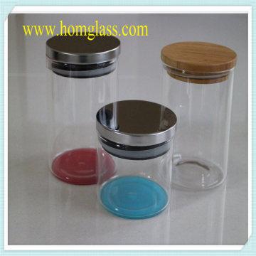 Armazenamento do frasco de vidro dos produtos vidreiros da cozinha pelo vidro de borosilicato resistente ao calor