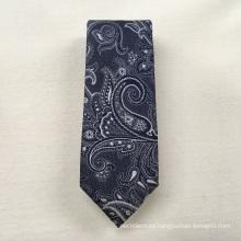 Proveedor chino Cree su propia marca Jacquard Tejido Paisley Corbatas de seda al por mayor