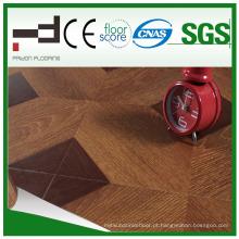 Pavimento laminado do estilo europeu da superfície do Paste-up da arte de 12mm
