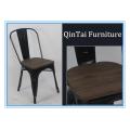Cepille la silla del hierro del desván de la silla del metal del precio al por mayor del vintage