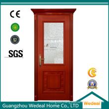 Solid Wooden Fiberglass Exterior Door for Hotel Project