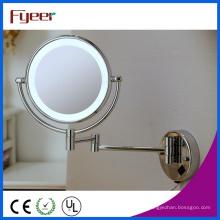 Espelho dobrável fixado na parede ultra fino da composição do banheiro do diodo emissor de luz de Fyeer