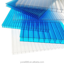 Cheap price waterproof and uv coated 100% Virgin Colorful  polycarbonate x triple pc hollow sheet for greenhouse