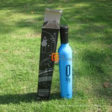 Parapluie forme bouteille ouvert 21 pouces manuel (YSB004B)