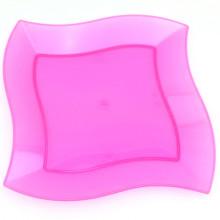 Одноразовая посуда из пластика для посуды 23 см. Квадратная пластина