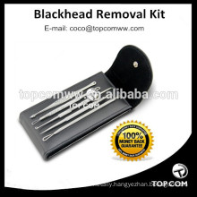 Stainless Steel facial acne Comedone Blemish Whitehead Blackhead Extractor Tools set