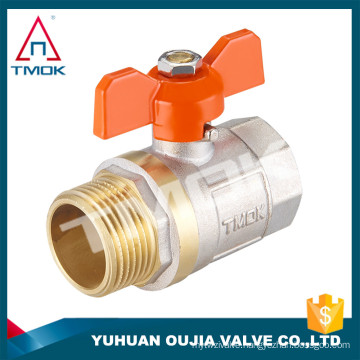 water flow meter brass valve PTFE/O-ring seal ball valve port size G1 inch brass ball valve for water, oil, gas