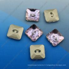 Les boutons en cristal de variété cousent des boutons de vêtement pour des accessoires d'habillement