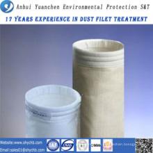 Bolso de colector de polvo del bolso de filtro de aire de la fibra de vidrio HEPA para la industria