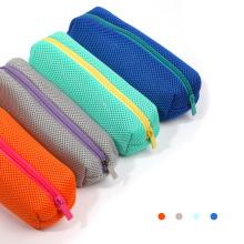 Customized Boys Girls School Supplies Pen Bag Pouch Large Capacity Contrast Mesh Pencil Case