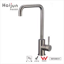Haijun 2017 Promocional NSF cUpc inoxidable de un solo agujero grifo del grifo del fregadero de la cocina