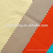 Tissu en coton mélangé de couleur blanche blanchissant