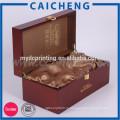 Роскошного Подарка Упаковывая Твердая Деревянная Коробка Для Вина