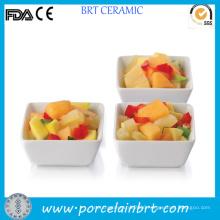 3 Inches Square Porcelain White Tasting Bowl