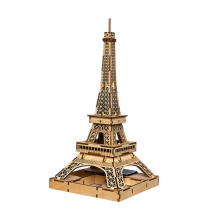 3D DIY Wooden Solar Toy Eiffel Tower Toys