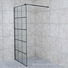 2021 Special Design Black Cube Shower Door Walk in Glass