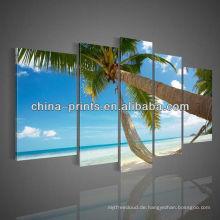 Bereites Wand-hängende Kunst 5 PC Strandlandschafts-Segeltuchmalereien