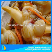 Diferentes tipos de congelados surf clam carne quente venda no mercado ultramarino