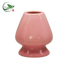 Rote Farbe Porzellan Nizza Matcha Set Bambus Matcha Schneebesen Halter / Stand