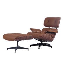 Klassische Mid Century Eames Sessel aus Leder