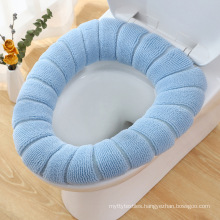 Warm Toilet Seat Cover Cute Toilet Seat Pad Bathroom Seat Cushion with Handle