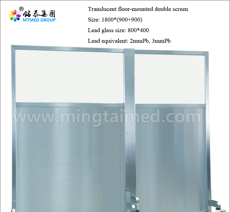 Translucent Floor Mounted Double Screen