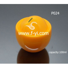Popular Cute Fruit Shape Cosmetic Clear Plastic Jars