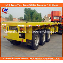 40ft Tri-Axle Container Loading Flatbed Semi Trailer