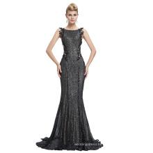 Starzz 2016 Sleeveless Black Shining Sequins Backless Ball Gown Formal Evening Dress ST000072-1