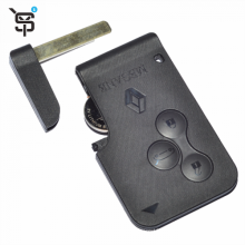 Factory price smart card key with 3 button 433 Mhz PCF7947 chip for megane Scenic2003-2008