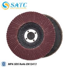 Disco abrasivo com aba SATC para aço inoxidável