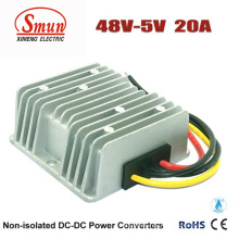 Convertidor de 48VDC a 5VDC 20A 100W DC-DC con IP68 a prueba de agua