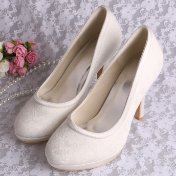 Wedopus Gading Lace Wedding Shoes Platform