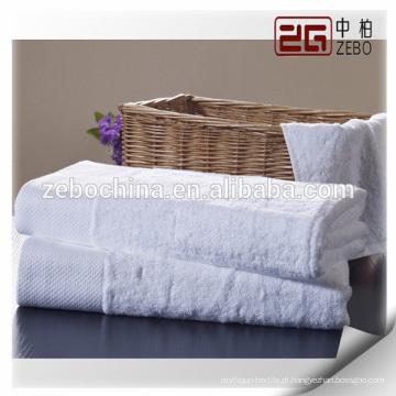 Novidade Custom Logo Disponível Pure White 100% algodão Hotel toalha de banho