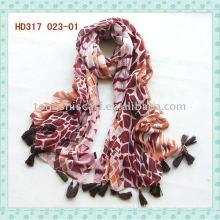 Fancy 100% viscose printed scarf