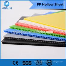 4mm 700gsm blue color PP Hollow sheet